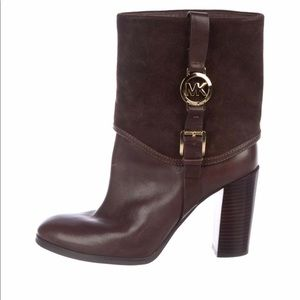 Michael Michael Kors Fulton Brown leather booties